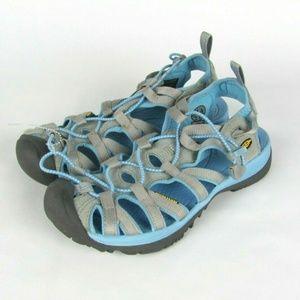 KEEN Whisper Gray Blue Waterproof Sandals 8.5